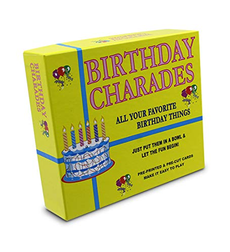 Birthday Party Charades Game | The Best Birthday In A Box | A New Birthday Party Game That's Better Than All The Rest | Enjoyable for Kids and Adults -