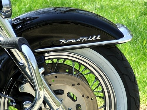 Motorcycle Fender/Saddlebag Emblems ''Road Kill'' Emblem Pair