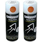 2 x CANBRUSH Spray Paint - For Metal Plastic & Wood 400ML - Burmese Teak by CANBRUSH