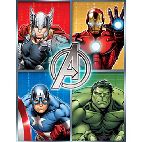 Marvel Avengers Assemble Plush Bed Throw Blanket - 46