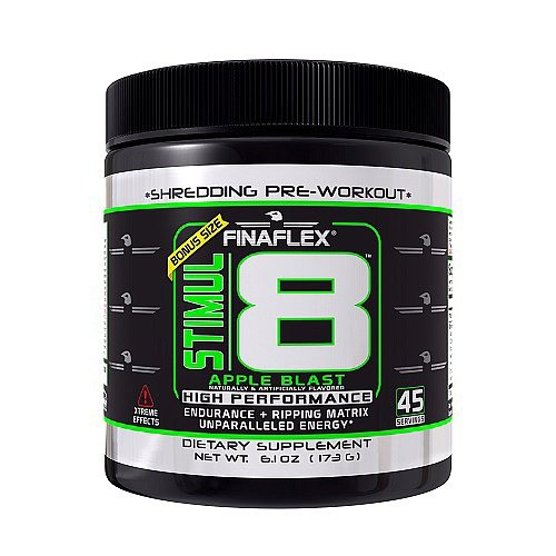 FinaFlex - Stimul8 High Performance Shredding Pre-Workout Bonus Size Apple Blast - 6.1 oz.