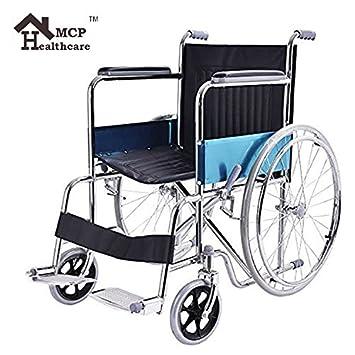 Amazon.com: MCP jindal plegable silla de ruedas de acero ...