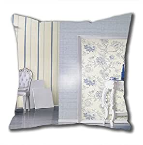 Perfect square pure blue classic series pillowcases on sale