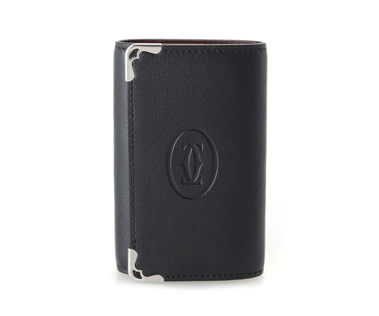 (カルティエ)Cartier 6連キーケース L3001359 Must ブラック ワインレッド カーフレザー マスト カルチェ 黒 赤 B00WR5T660