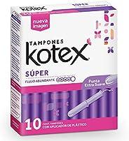 Kotex Super Tampones, caja con 10 tampones