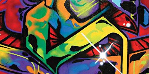 JP London uStrip Lite UMB91058MM Graffiti Street Panoramic Prepasted Wall Mural, 3-Feet tall by 6-Feet Self Stick Murals
