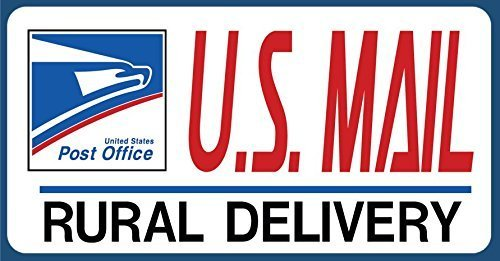 U.S. Mail Delivery Decal Sticker Sign. Rural Delivery Carrier Sticker USPS - 4