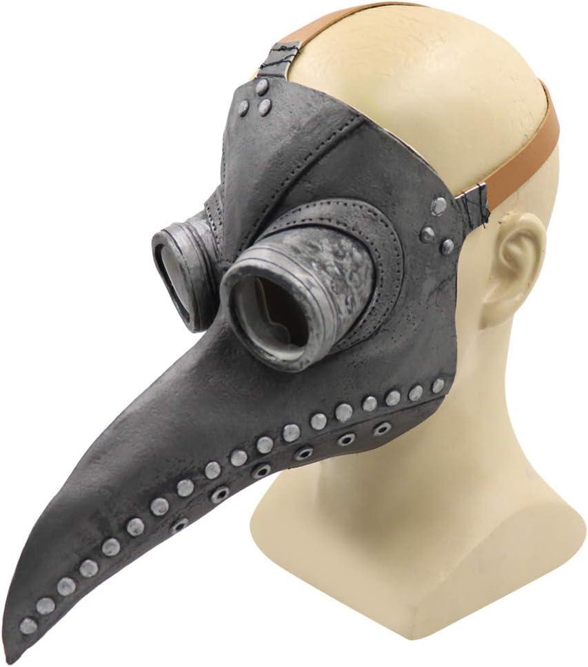 Sxgyubt Masque de peste pour docteur oiseau long bec cosplay r/étro accessoires pour costume dHalloween