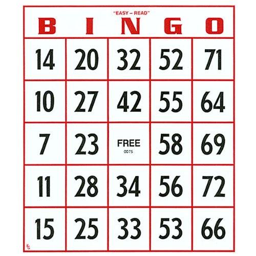 EZ to read Bingoカード–セットof 25