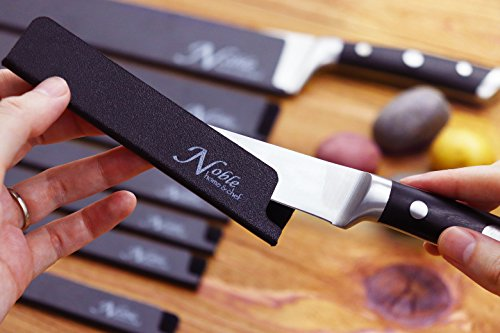 8-Piece Universal Knife Edge Guards are More Durable, BPA-Free, Gentle on Your Blades, and Long-Lasting. Noble Home & Chef Knife Covers Are Non-Toxic and Abrasion Resistant! (Knives Not Included) by Noble Home & Chef (Image #5)
