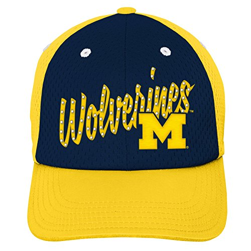 Gen 2 K N8 474CW 58-1SZ-58-Youth Girls OS NCAA Michigan Wolverines Youth Girls Mesh Slouch Hat, Dark Navy, Girls One Size, Multicolor