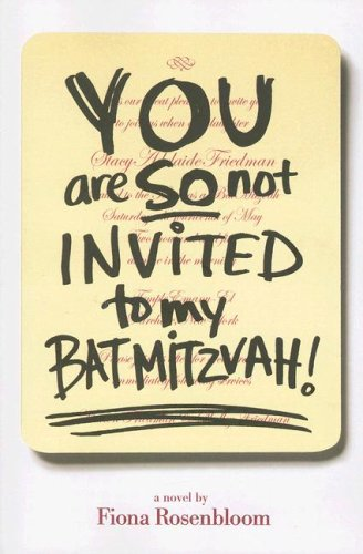Download You Are SO Not Invited to My Bat Mitzvah! pdf epub