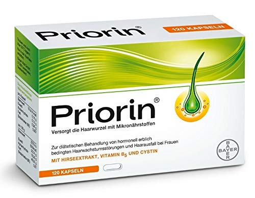 PRIORIN Hair Growth Formula - Weak & Thinning Hair - 120 Capsule (Made Germany)