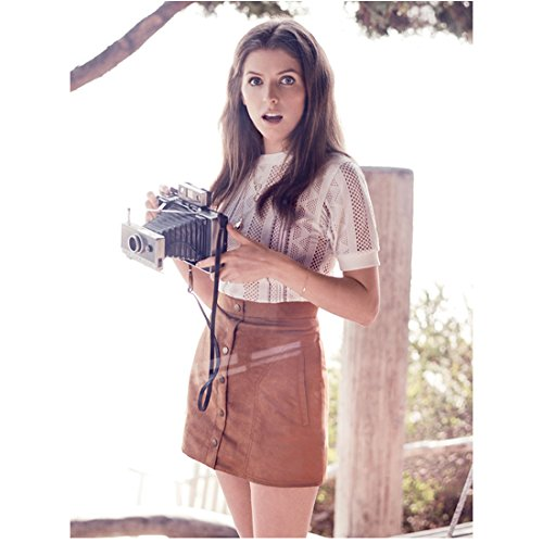 Anna Kendrick Holding Old Camera Taking a Snap 8 x 10 inch Photo