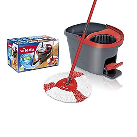 Vileda mop en steel Supermocio 3Action Lana Rojo, Color blanco fregona: Amazon.es: Hogar