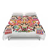Society6 Mexican Dolls Duvet Covers Full: 79'' x 79''