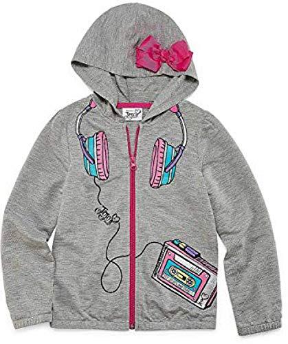 (JoJo Siwa Hoodie for Girls Pink Bow Hooded Jacket Coat Lightweight (4))