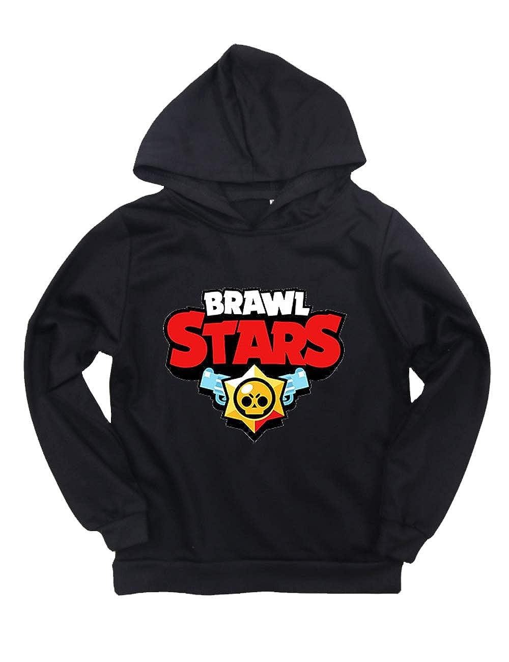 Stampa 3D Felpa con Cappuccio Brawl Stars per Bambini,Brawl Stars Felpa per Ragazzo e Ragazza Abbigliamento Sportivo Pullover Hoodie Manica Lunga