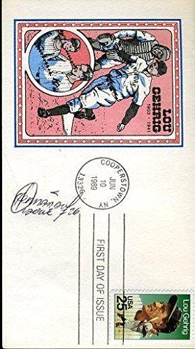 - Orlando Hernandez Signed Cert Sticker Lou Gehrig Fdc Autograph - JSA Certified - MLB Cut Signatures