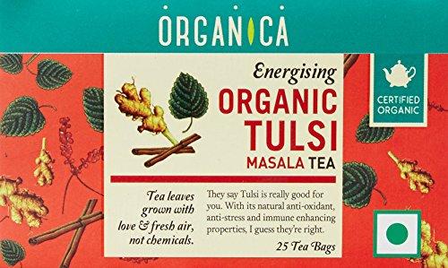 Organica USDA Certified Organic Tulsi Holy Basil Masala Tea, 2.5 oz (70 g) 25 tea bags by Organica