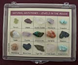 Natural Gemstone Collection Jewels in the Rough Plastic Presentation Case - Specimen Collection Natural