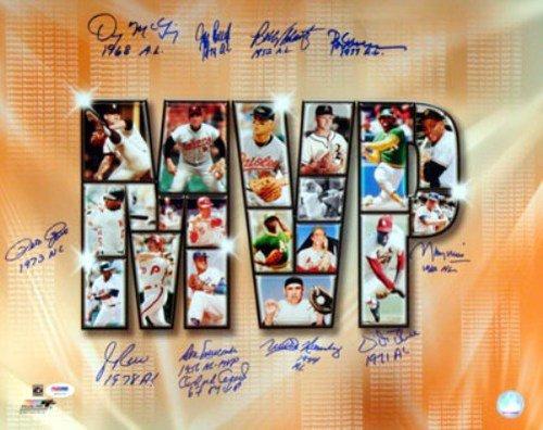 Rod-Carew-Minnesota-Twins-Autographed-PSADNA-Authenticated-MVP-16x20-Photo-11-Signatures-Rod-Carew-Orlano-Cepeda-Jim-Rice-Signed-Photos