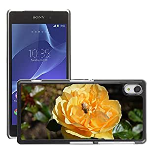 Hot Style Cell Phone PC Hard Case Cover // M00108760 Yellow Roses Insects Blossoms Bugs // Sony Xepria Z2 L50W