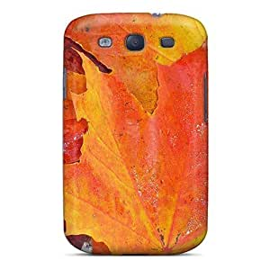 For Galaxy Case, High Quality Fall Leaves On Rocks For Galaxy S3 Cover Cases