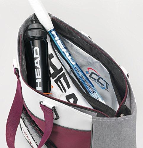 HEAD Uni Women's Club Bag Sporttaschen, Weiß, 70 x 50 x 10 cm, 0.4 Liter