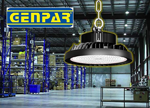 GENPAR 240W UFO LED High Bay Light 800W HPS/MH Equivalent 26000LM lumens Daylight White 6000-6500K IP65 Waterproof Warehouse Lighting Fixture Commercial Lighting Factory Shop Industrial Garage (2-PK) by GENPAR (Image #6)