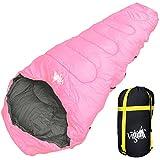 WhiteSeek 寝袋 シュラフ マミー型 【最低使用温度 -15℃ 】
