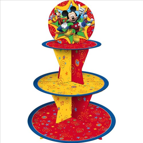 Mickey Mouse 'Fun and Friends' Tiered Paper Cupcake Holder (1ct) -