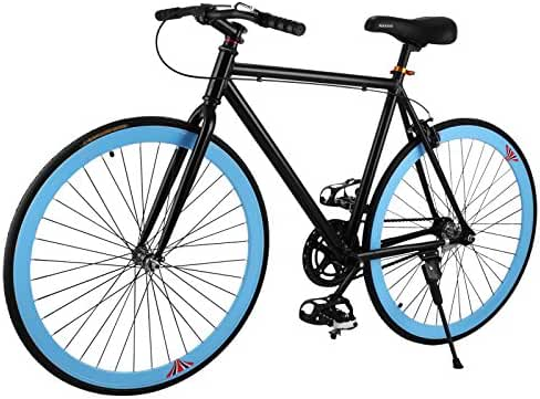 Happybuy Road Bicycle Harper Men's Single Speed Road Bike Fixed Gear Urban Commuter Bike Shimano 26 inch/27 inch