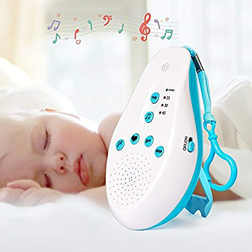 V.JUST Baby White Noise Sound Machine, Sleep Sleep Pacifier Generator, with 5 Types of Calming Help to Treat Sound, Voice Sensor, Portable Travel and Home