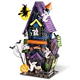 Hand Painted Festive Halloween Haunted Castle Tabletop Décor