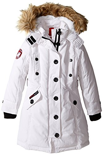 Canada a Big White amp; Button Girls' Gear Weather Little Jacket ZqZfH