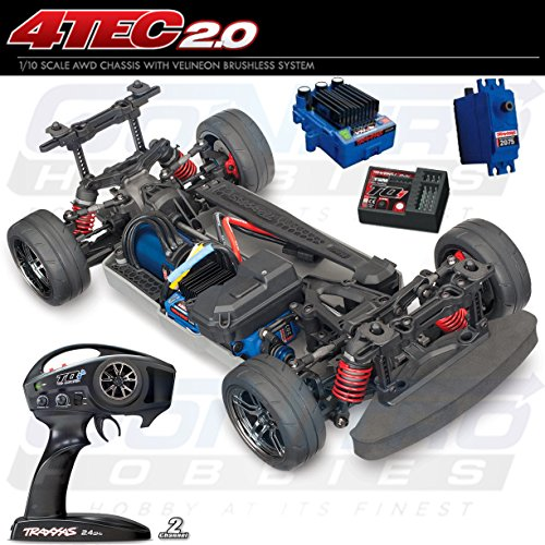 Tec Body 4 (Traxxas Automobile Electric AWD Remote Control Brushless 4-Tec 2.0 VXL Race Car Chassis with TQi 2.4GHz radio and TSM, Size 1/10)