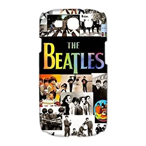Designed The Beatles Rock Band Hard Back Case Cover for Samsung Galaxy S3 I9300(3D)- Black