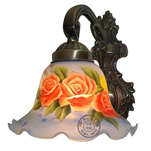 LINA-Weihnachten Halloween-Geschenke Einfache Western style Hotelzimmer und Restaurant Den Spiegel Lampe Nachttischlampe wunderschöne handgemalte Ölgemälde Lichter,Warmes Licht