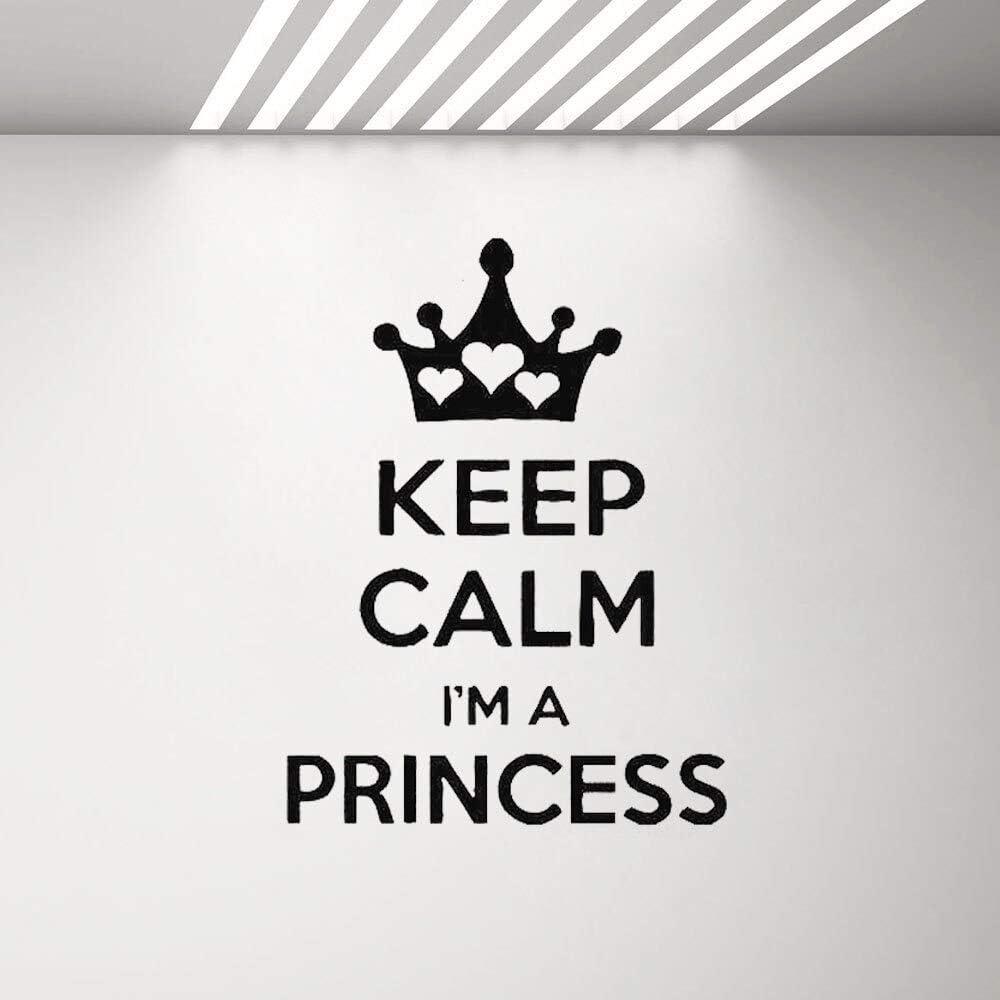 Ajcwhml Mantenga la Calma, Soy Princesa calcomanía de Pared Cita ...
