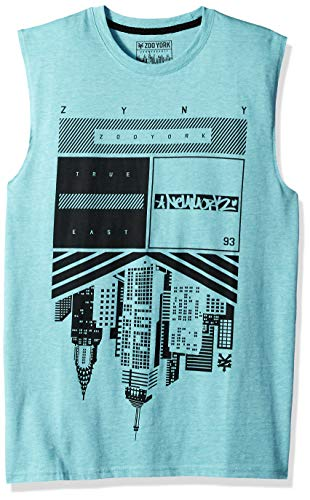 (Zoo York Men's Sleeveless Muscle Tank Top, Cravitaion Mint Heather Large )
