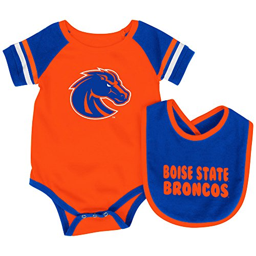 Colosseum Boise State Broncos Roll-Out Infant One Piece and Bib Set (3-6M)