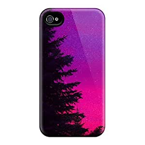 Cute Appearance Cover/tpu FZEMvyS4994npmth Colored Forest Case For Iphone 4/4s