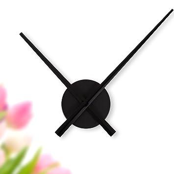 Wandkings Wanduhr SOLO XL Mit Uhrwerk U0026 Extra Großen Uhrzeigern   Farbe:  SCHWARZ