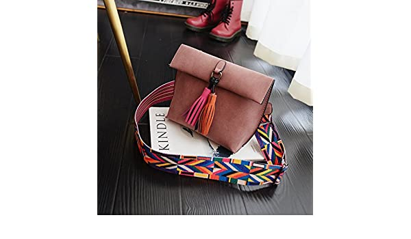 c1ad3a0cbc Amazon.com   MDRW-Women Bag Wide Straps Bag Female Scrub Bucket Bag Retro Shoulder  Satchel Simple Woman Pink   Sports   Outdoors