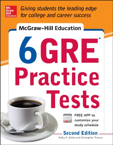 McGraw-Hill Education 6 GRE Practice Tests, 2nd Edition (Diagnostic Test Grade)