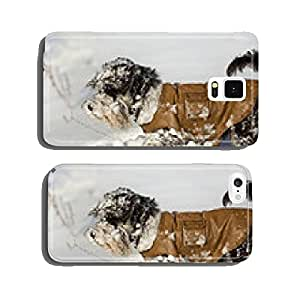 Dog in jacket on snow cell phone cover case iPhone6 Plus