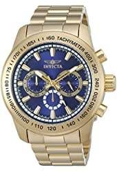 Invicta Men's 'Speedway' Quartz Stainless Steel Casual Watch (Model: 21797)