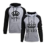 #5: CHENMA King & Queen Matching Couple Pullover Hoodie Sweatshirts For Men and Women(Sold Separately)