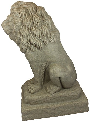 Emsco Group Guardian Lion Statue Natural Sandstone